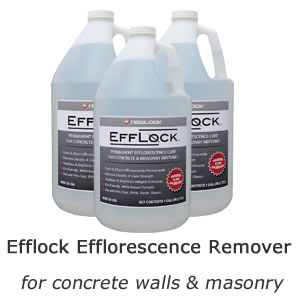 Efflock Efflorescence Remover for concrete walls & masonry