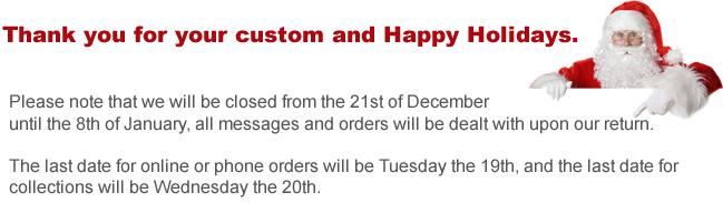 Christmas Shut Down
