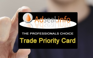 Adseal trade card