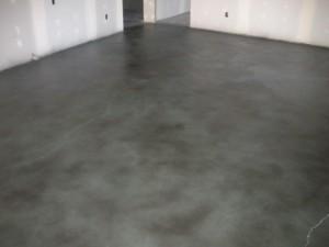 Solid Base: Powder Green (332) SmartColor Tint: Black (SC-128) Decorative Concrete Stain