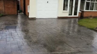 Cleaning and sealing Pattern imprinted concrete